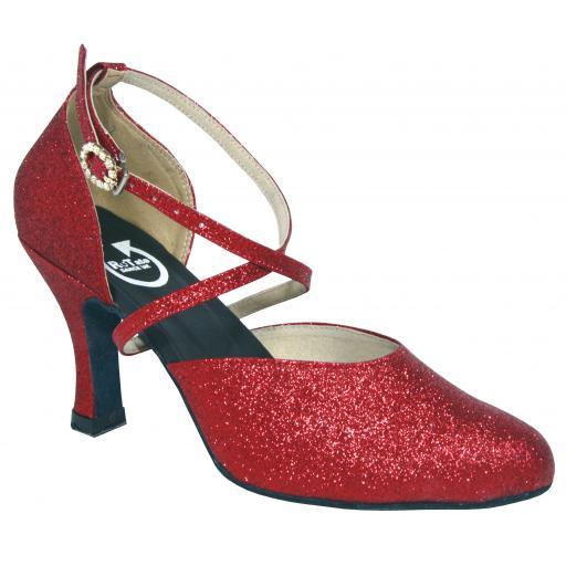 BELLE - red glitter (o diamonte)