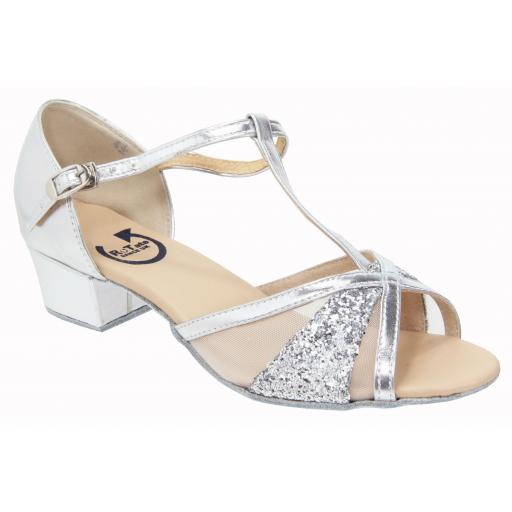 HANNAH - silver pu /glitter